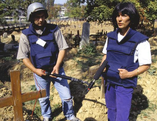 Christine Amanpour reporting from Sarajevo 1993
