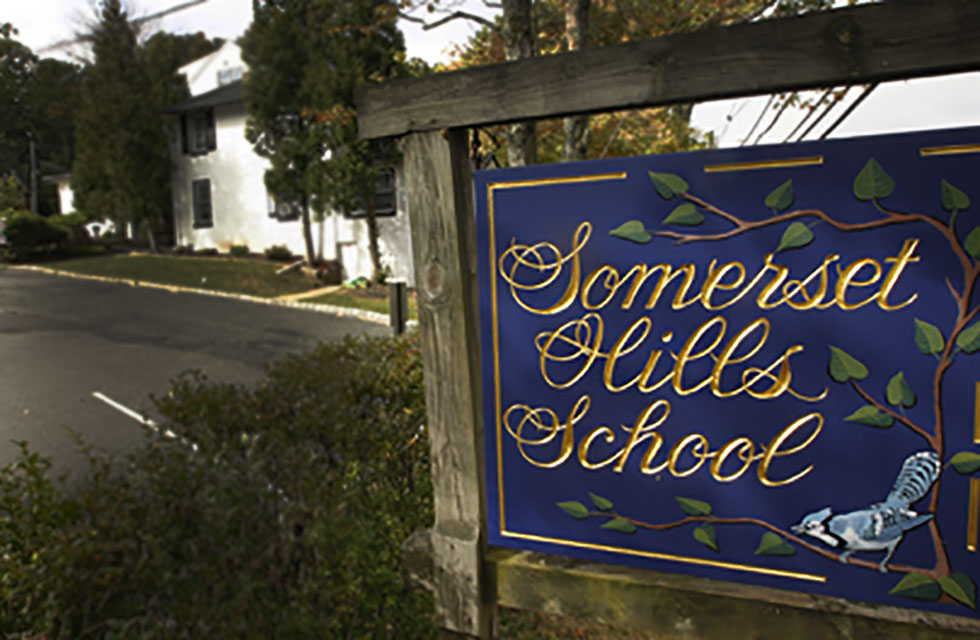 Somerset Hills School sign