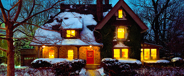 Wallace House at the University of Michigan in winter