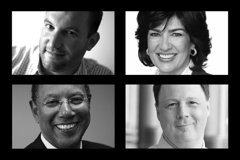 Dean Baquet, The New York Times; Christiane Amanpour, CNN; John Harris, POLITICO; David Greene, NPR