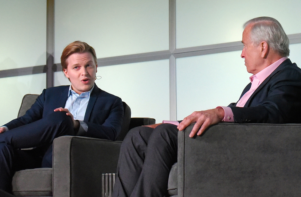 Ronan Farrow and Ken Auletta